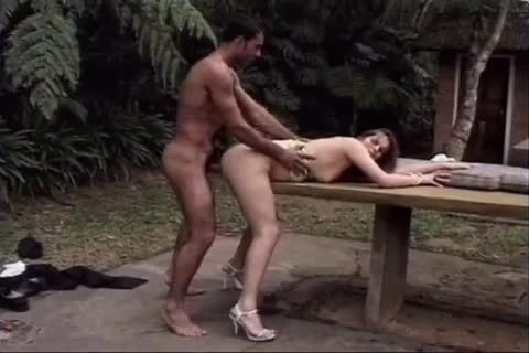 sexy latin chick Let This Brazilian man to bone her On The Table